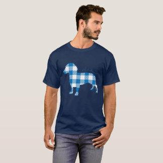 Camiseta Dachshund lindo de la tela escocesa