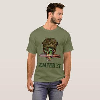 Camiseta Daga marina del zombi, Semper Fi, personalizar,