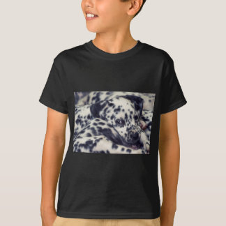 Camiseta Dalmatian puppy with several stains