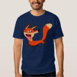 Camiseta dañosa linda del Fox del dibujo animado