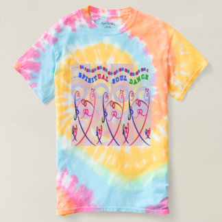 Camiseta DANZA ESPIRITUAL del ALMA del teñido anudado