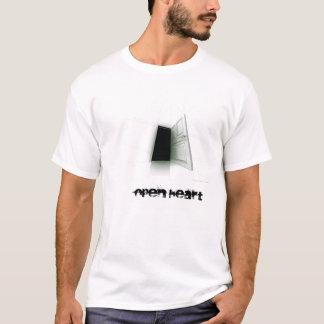 Camiseta dark_door, corazón abierto
