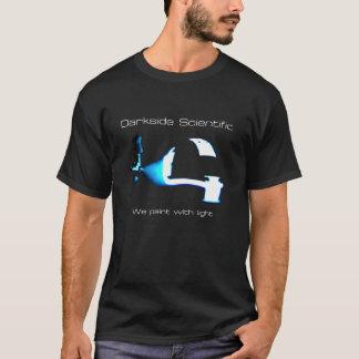Camiseta Darkside científico: Pintamos con la luz