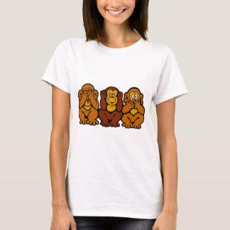 Camiseta de 3 pequeña monos