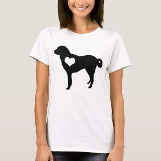 Camiseta de Anatolia del corazón del perro de