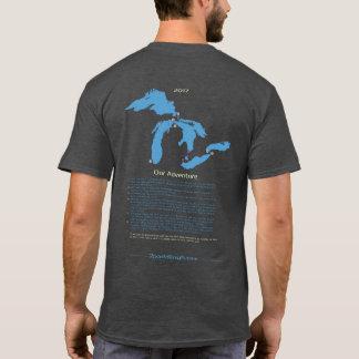 Camiseta de batimiento del gris de carbón de leña