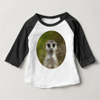 Camiseta De Bebé 02.7_o divertido de Meerkat 002