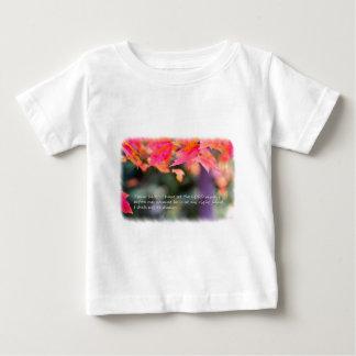 Camiseta De Bebé 16:8 del salmo en las hojas de la caída