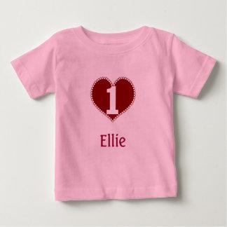 Camiseta De Bebé 1r cumpleaños de la tarjeta del día de San