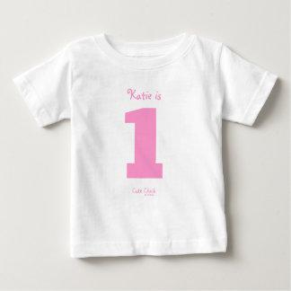 Camiseta De Bebé 1r cumpleaños del número 1 de los chicas lindos