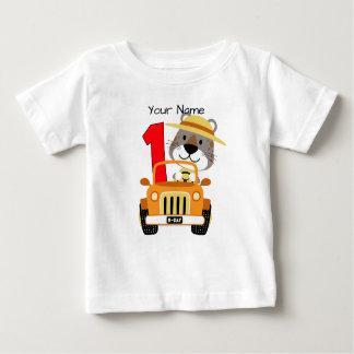 Camiseta De Bebé 1r cumpleaños del safari