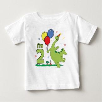Camiseta De Bebé 2do cumpleaños de Dino