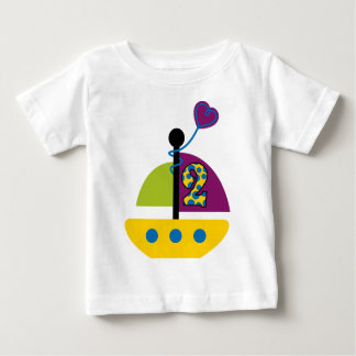 Camiseta De Bebé 2do Velero del cumpleaños