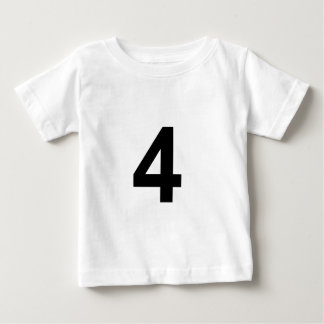 Camiseta De Bebé 4 - número cuatro