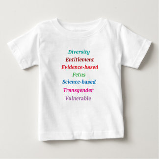 Camiseta De Bebé 7 palabras prohibidas