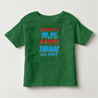 Camiseta De Bebé 99,9% BOSTEZO TODO EL DÍA (blanco)