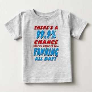 Camiseta De Bebé 99,9% BOSTEZO TODO EL DÍA (negro)