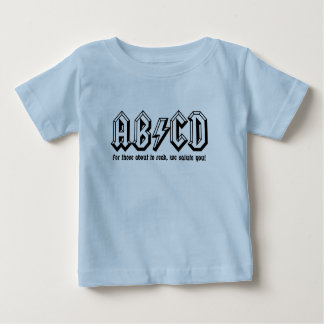 Camiseta De Bebé AB/CD - ¡Consiga listo PARA LEER!