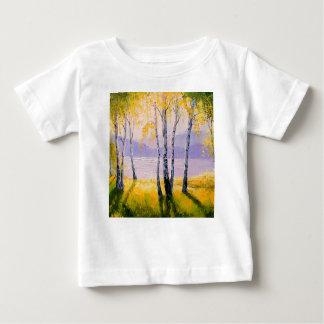 Camiseta De Bebé Abedul por el río