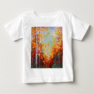 Camiseta De Bebé Abedules del otoño
