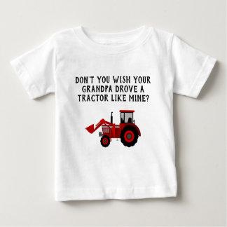Camiseta De Bebé Abuelo rojo del tractor del bebé divertido