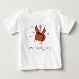 Camiseta De Bebé Acción de gracias feliz Turquía divertida unisex