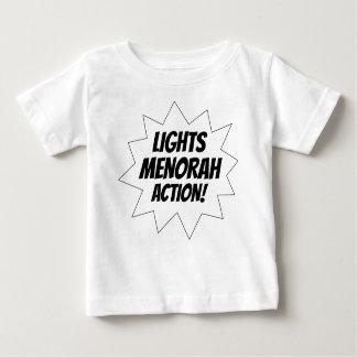 Camiseta De Bebé Acción de Menorah de las luces - negro