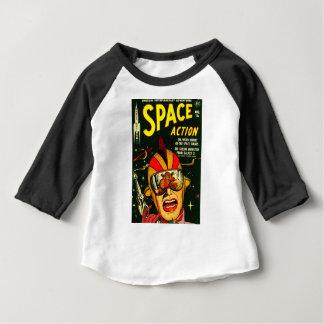 Camiseta De Bebé Acción del espacio: ¡EEK!  ¡Un monstruo!