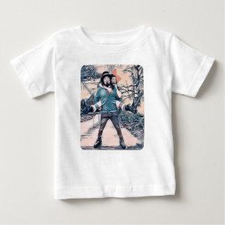 Camiseta De Bebé Aceituna y Dingo en las escaleras congeladas