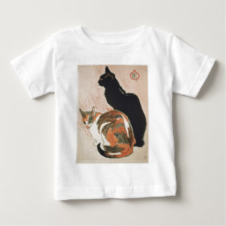 Camiseta De Bebé Acuarela - 2 gatos - Théophile Alejandro Steinlen