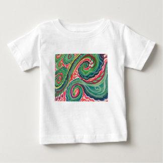 Camiseta De Bebé Acuarela caprichosa: Rosa y verde claro