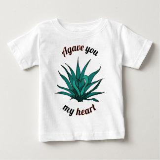 Camiseta De Bebé agavo usted mi corazón