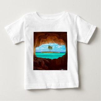 Camiseta De Bebé Agua y palmeras escénicas