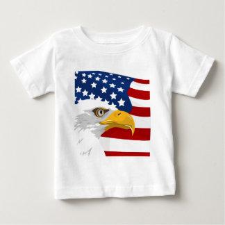 Camiseta De Bebé Águila y bandera de los E.E.U.U.