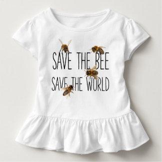 Camiseta De Bebé ¡Ahorre la abeja! ¡Ahorre el mundo! Vive el diseño