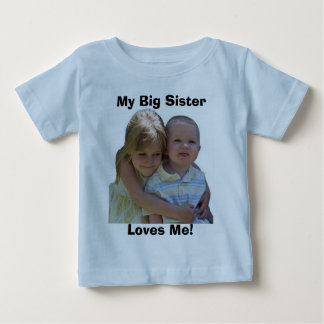 Camiseta De Bebé ¡Aidan 3, mi hermana grande, me ama!