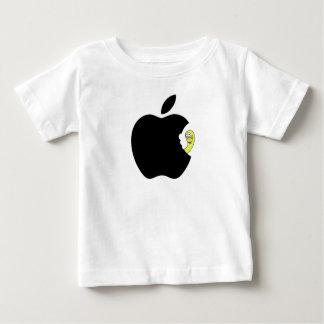 Camiseta De Bebé Al gusano le gusta la manzana