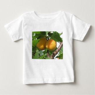 Camiseta De Bebé Albaricoques maduros que cuelgan en el árbol.