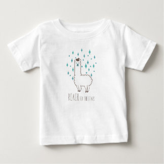 """Camiseta De Bebé """"Alcance para ilustracion dulce de la llama de las"""