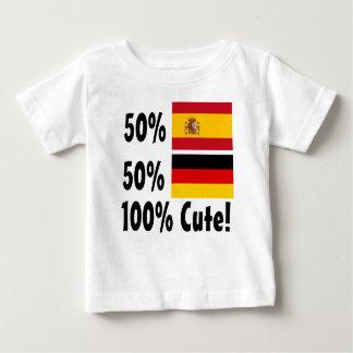Camiseta De Bebé Alemán del español el 50% del 50% el 100% lindo