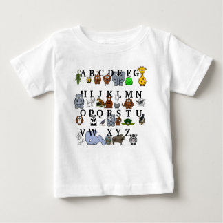 Camiseta De Bebé Alfabeto animal
