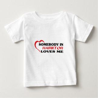 Camiseta De Bebé Alguien en Hamilton me ama