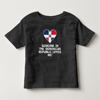 Camiseta De Bebé Alguien en la República Dominicana me ama