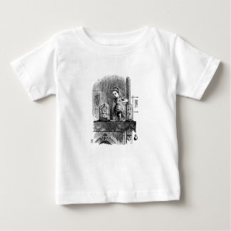 Camiseta De Bebé Alicia en un espejo