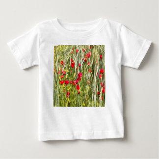 Camiseta De Bebé Amapolas de maíz rojas