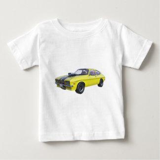 Camiseta De Bebé Amarillo del coche de 1970 músculos con la raya