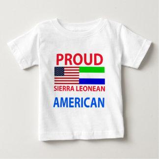 Camiseta De Bebé Americano orgulloso de Sierra Leonean
