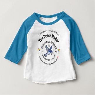 Camiseta De Bebé Amistad y paz