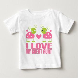 Camiseta De Bebé Amo a mi gran tía Ladybug