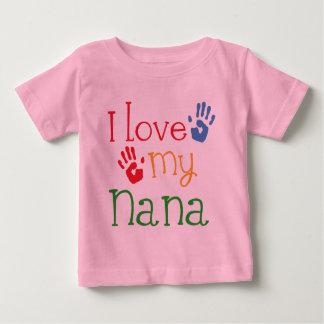 Camiseta De Bebé Amo a mi Nana Handprints